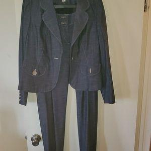Denim Ann Taylor Loft pantsuit
